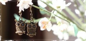 vintage brass earrings very jane