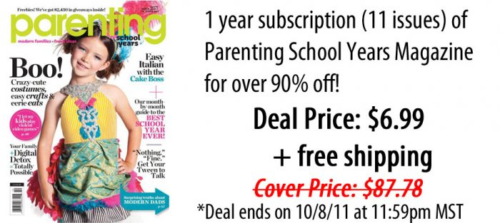 parenting school years magazine coupon