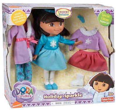 dora the explorer holiday sparkle doll