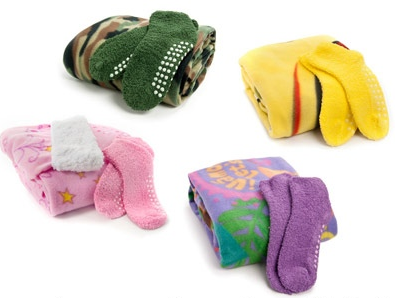snuggie for kids w slipper socks deal