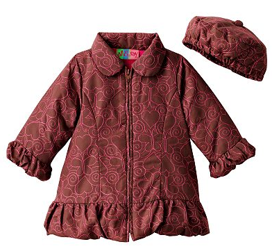 baby coat and hat set deal