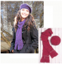 hat and scarf set deal free shipping