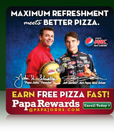 Papa John's Earn Free Pizza