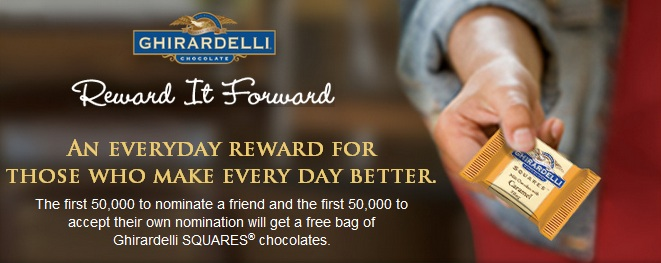 Ghirardelli free chocolate