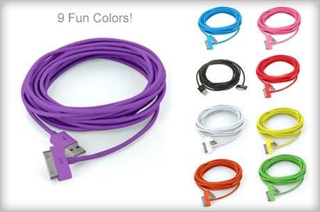 10 foot color usb cables
