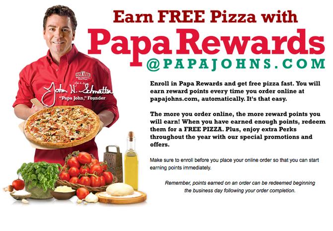 PapaJohns FREE Pizza