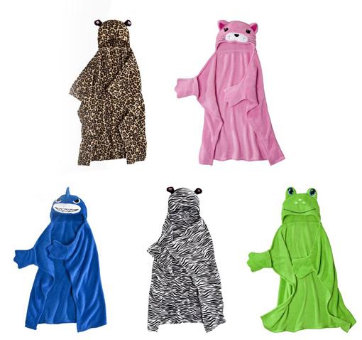 animal hooded blankets