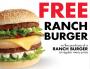 free ranch burger