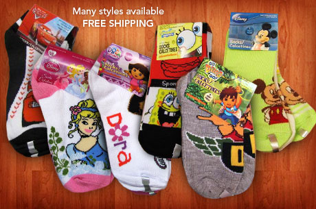 Nickelodean & Disney Kids Socks