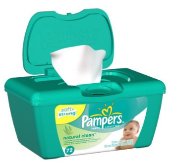 Pampers wipes natural clean