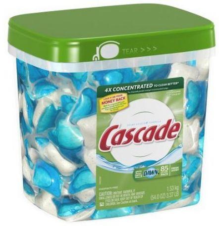 cascade 85 ct Cascade Action Pacs (85ct) $14.19 – $12.64 shipped! Better than Walmart