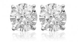 2 carat white topaz earrings