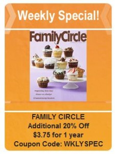 Family Circle weekly special