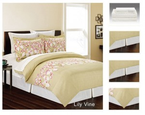 Manhattan Lights 8 Piece Bed in a Bag with Reversible Comforter & Sheet Set
