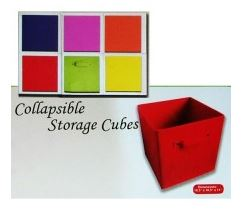 collapsible fabric storage cubes