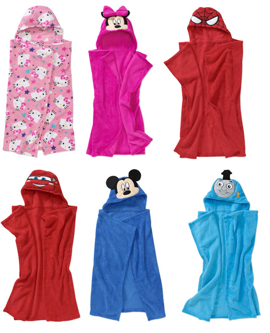 hooded character blankets