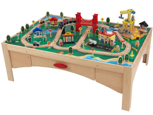 KidKraft Train Table with 120 Pc Wooden Train Set for $109.99 (Reg $149.99) \u2013 Utah Sweet Savings  sc 1 st  Utah Sweet Savings & KidKraft Train Table with 120 Pc Wooden Train Set for $109.99 (Reg ...