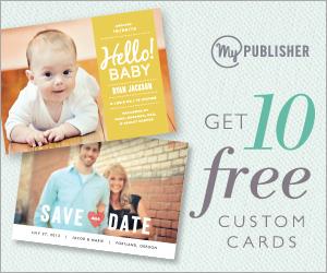 mypublisher 10 free custom cards