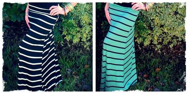 striped maxi skirt 2