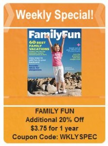 Family Fun weekly deal