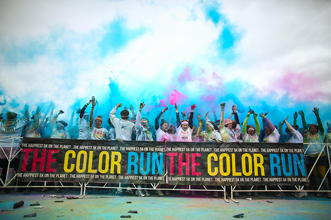 The color Run Line
