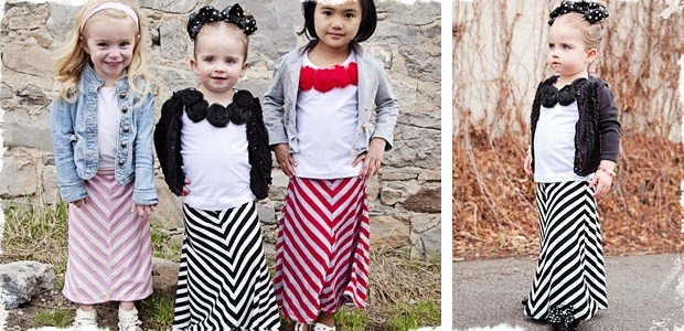 Toddler Chevron Maxi Skirts