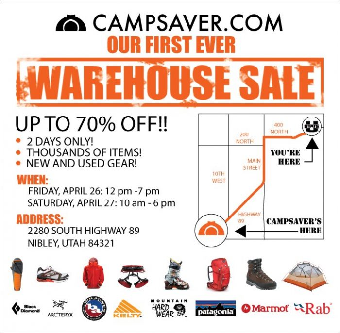 campsaver warehouse sale Campsaver.com Warehouse Sale in Logan! April 26 27