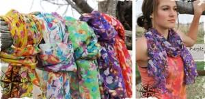 flirty floral scarf