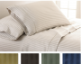 luxury striped sheet set