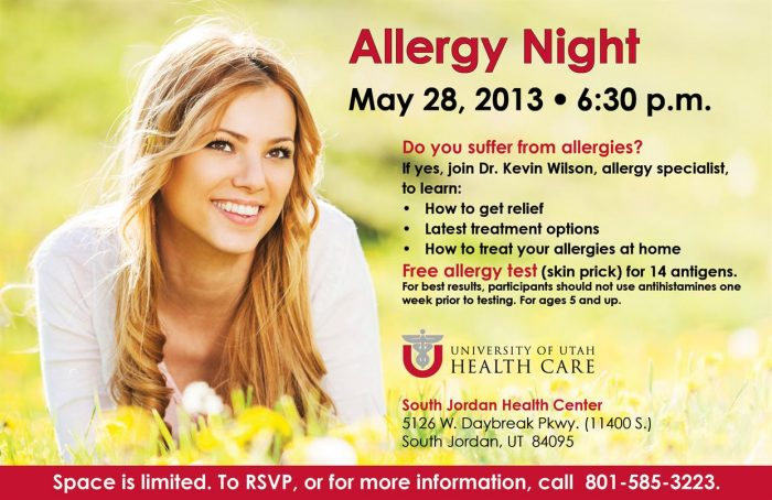 Allergy Night May 28
