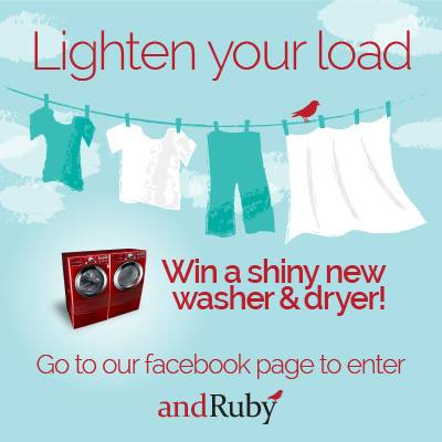 andRuby Wash and Dryer Giveaway