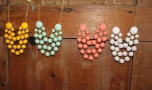 anthropologie bubble necklaces