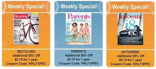 bestdealmagazines weekly specials