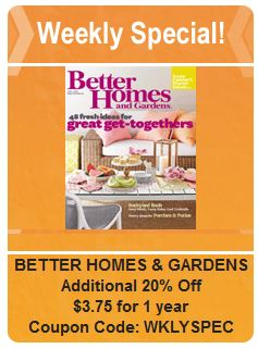 better homes & gardens weekly deal