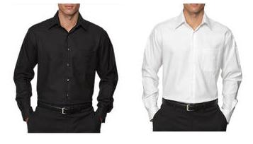 Men&-39-s Dress Shirts (black or white) $10.98 shipped – Utah Sweet ...