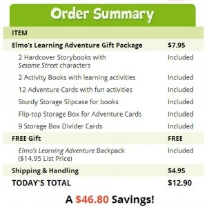 elmo's learning adventure gift package