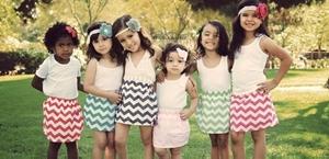 girls chevron skirts