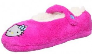 hello kitty fuzzy slipper socks