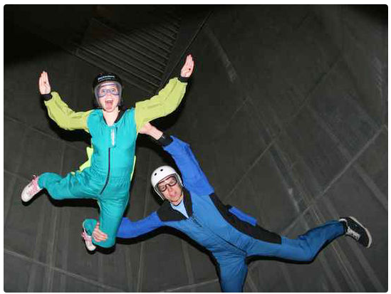 indoor skydiving Date Night Idea! Indoor skydiving, surfing, and rock climbing pass 45% off ($49)   Ogden