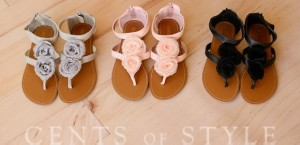 shabby chic floral sandles