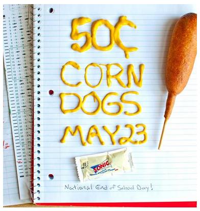sonic corn dog day