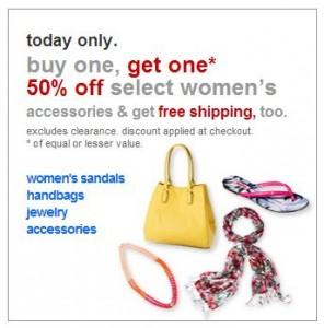 target accessory sale