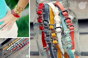 thin leather bracelets