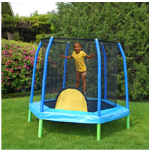 tramp enclosure Bazoongi 7 Hexagonal Trampoline and Enclosure   $99 (reg $150 at Walmart)