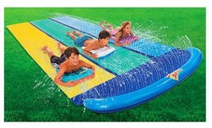 wham o slip n slide triple with boogie boards