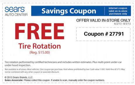 Free Tire Rotation Sears Free Tire Rotation at Sears