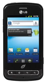 LG Optimus Q Android Prepaid Cell Phone