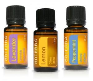 Lavendar Lemon and Peppermint Oils