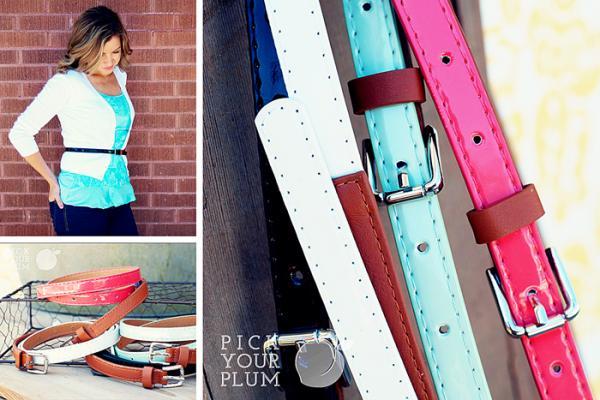 Skinny Belts Pick Your Plum