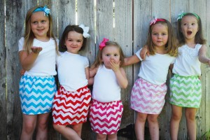 girls chevron skirts
